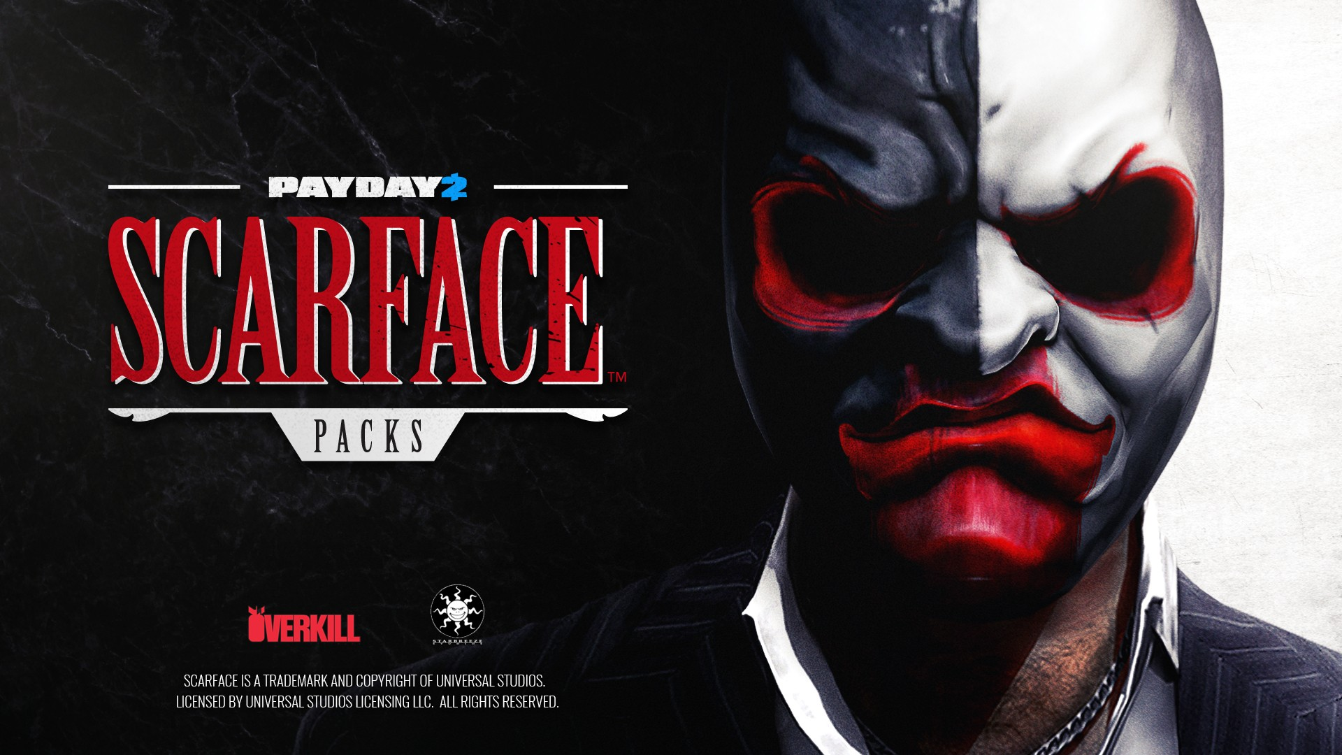 Say hello to our little friend – PAYDAY 2™ collaboration with NBCUniversal Brand Development for Scarface™ themed Character Pack and Heist