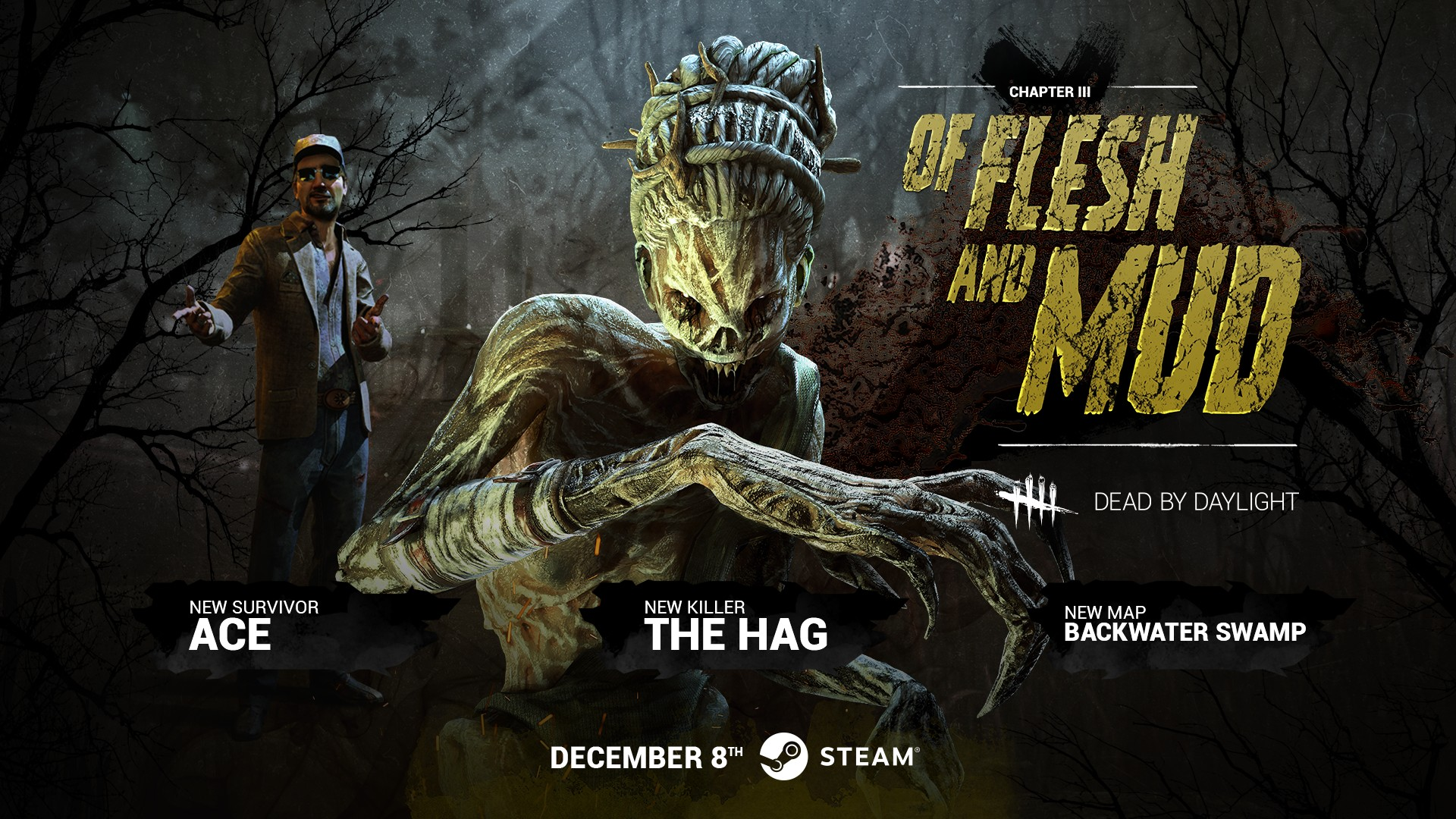 "Dead by Daylight Chapter 3: ""Of Flesh and Mud"" out now on Steam – introduces new killer, survivor and map"