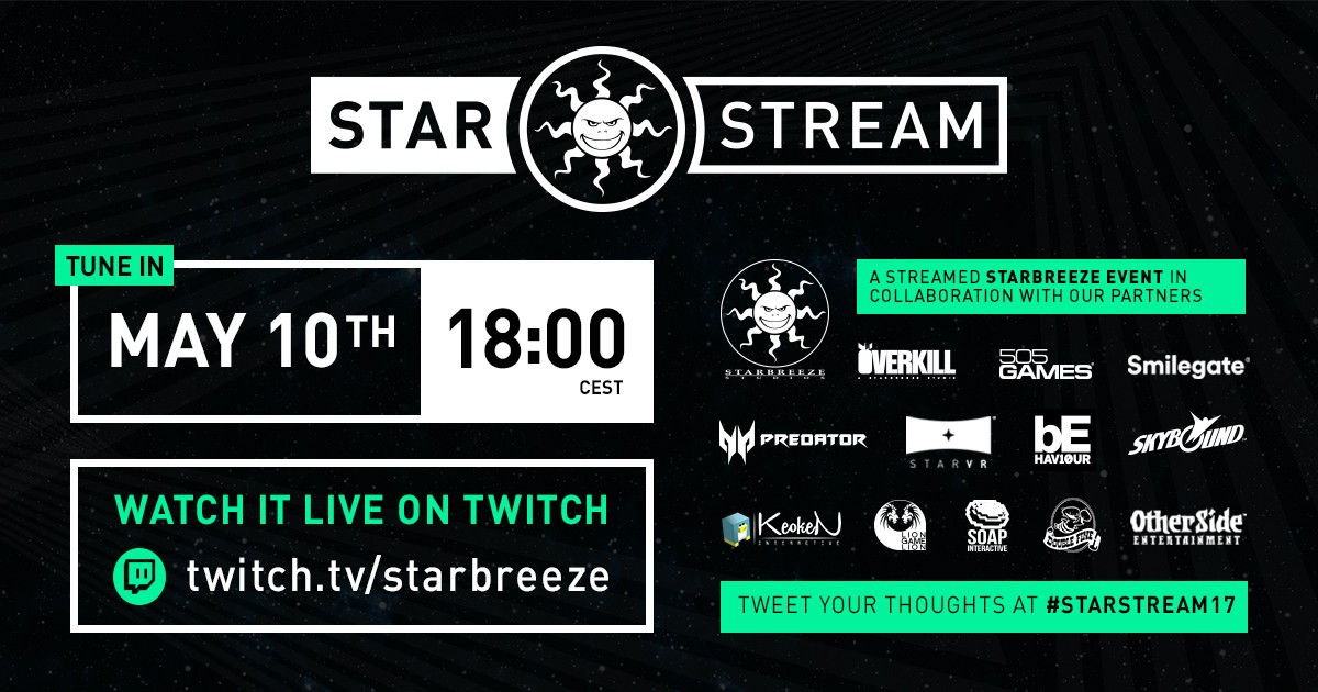 Starstream by Starbreeze – premiering an exclusive live-streamed event May 10